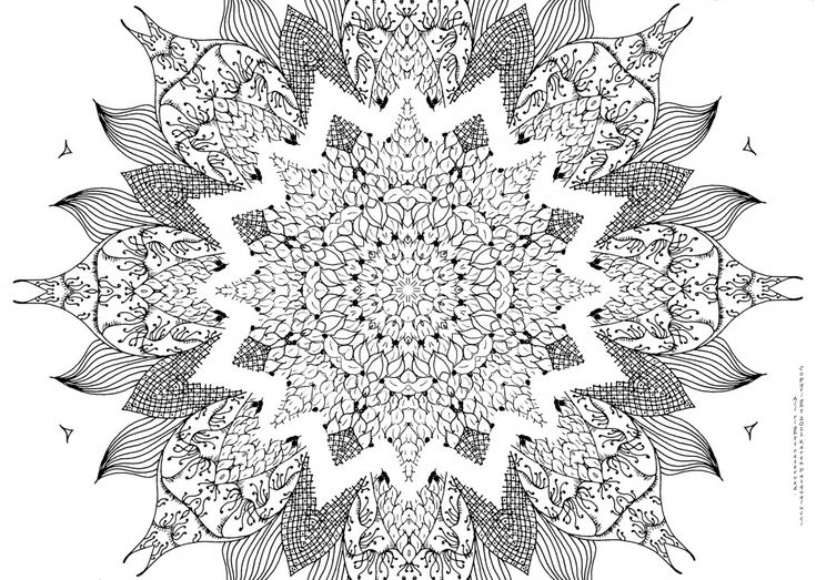 51 Best Mandala Coloring Pages Images On Pinterest