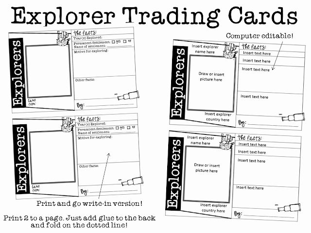 Free Trading Card Template In 2020 Social Studies Teaching Social Studies Social Studies Education