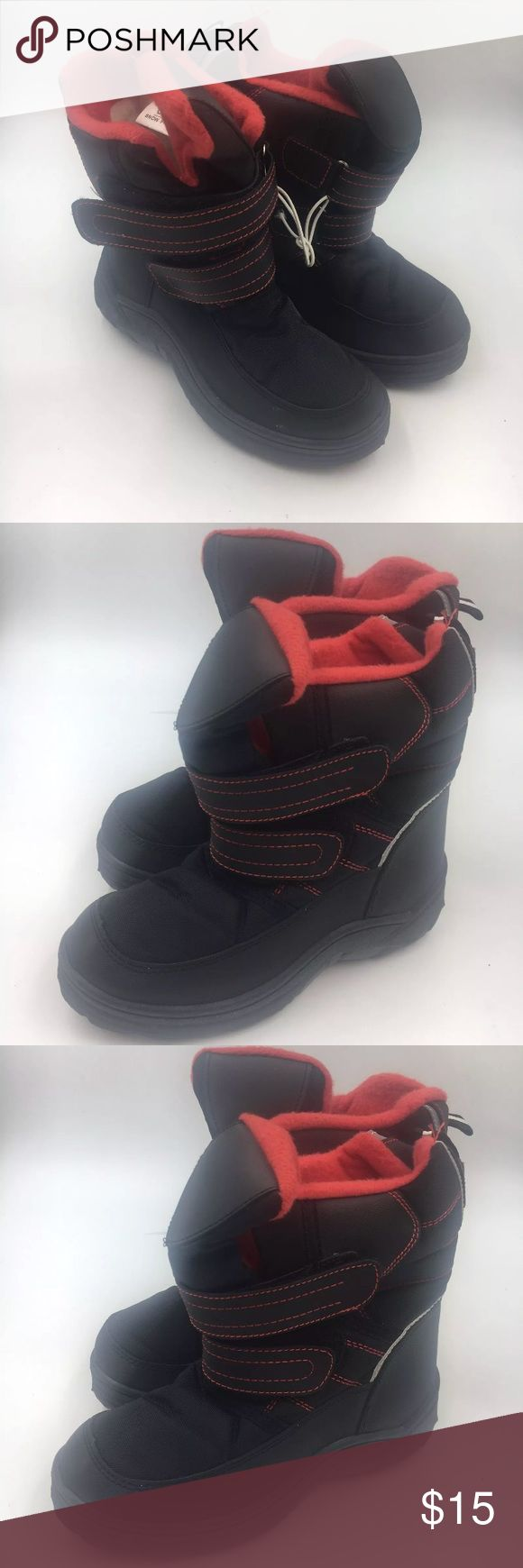 C*J kids snow boots Kids snow boots with hook and loop fasteners C*J Shoes Rain & Snow Boots