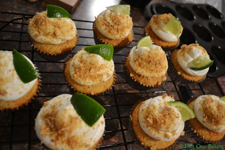 Graham Cracker Cupcakes with Key Lime Whipped Cream Cheese Frosting