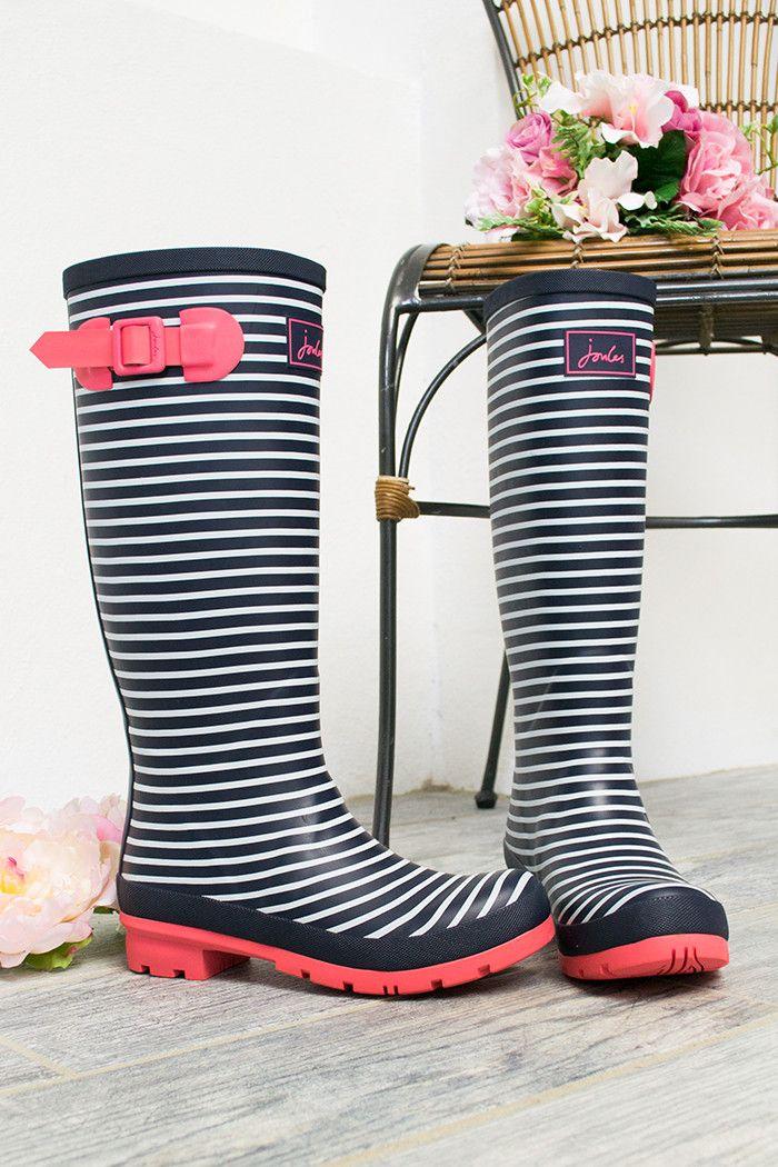 Nautical Pink Rain Boots