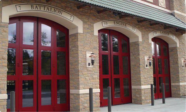 Four Fold Fire Station Doors