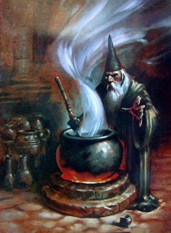 Naast de gangbare magie kunnen tovenaars ook spreuken brouwen. Tovenaars brouwen met bepaalde kruiden die magisch van aard zijn een drank in een ketel. In combinatie met wat toverwerk kan de walm die uit een ketel komt effect hebben op de directe omgeving van de ketel. Sommige spreukenbrouwers zijn zo getalenteerd dat ze hele bossen kunnen beïnvloeden. Dit is echter zeldzaam. Spreuken brouwen is populair bij kluizenaars.