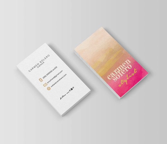 Carmen double sided business card  Instant by deideigraphic