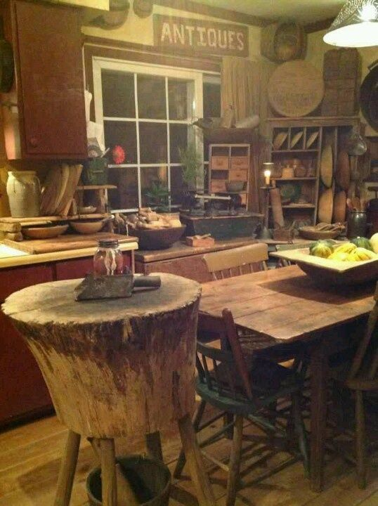find this pin and more on butcher block tables - Primitive Kitchen Tables