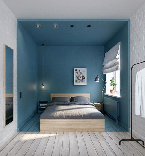 Bellissima anche l'idea di una stanza dipinta a metà su soffitto, pareti e pavimento. Alla fine dà l'idea di una nicchia protettiva.    Project by int2 architecture