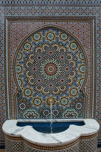 Moroccan Tiled Water Fountain Vs Whirling Dervishes