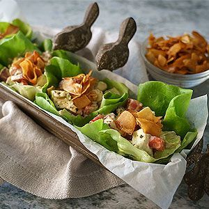 """Around here, we love BLTs. And even better, BLTAs, """"bacon"""", lettuce, tomato, and avocado. I often make my vegan bacon from tempeh but for this recipe, I used coconut bacon, addicting as it is. I love that the lettuce cups replace the bread, too. This reci"""