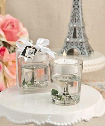 7 Vela Gel Torre Eiffel Paris Recuerdo Boda Despe Xv Baby - $ 504.00