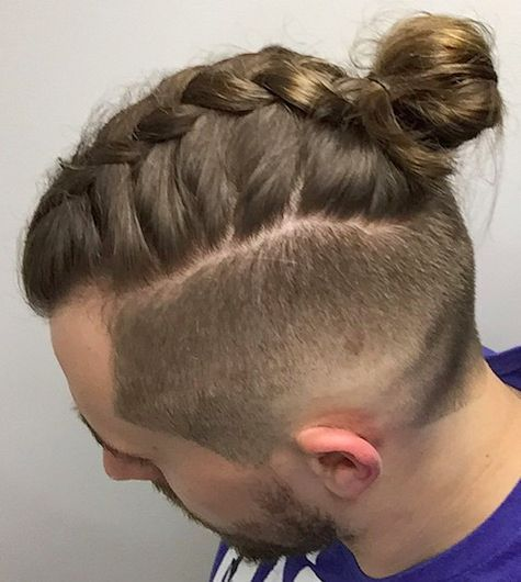 Hairstyles Man Bun : Man braids, Braid hairstyles and Plaits on Pinterest