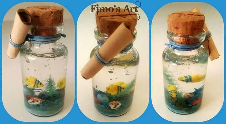 """""""Sea in the little bottle"""" by Fimo's Art  https://www.facebook.com/profile.php?id=1422761874603357&ref=ts&fref=ts"""