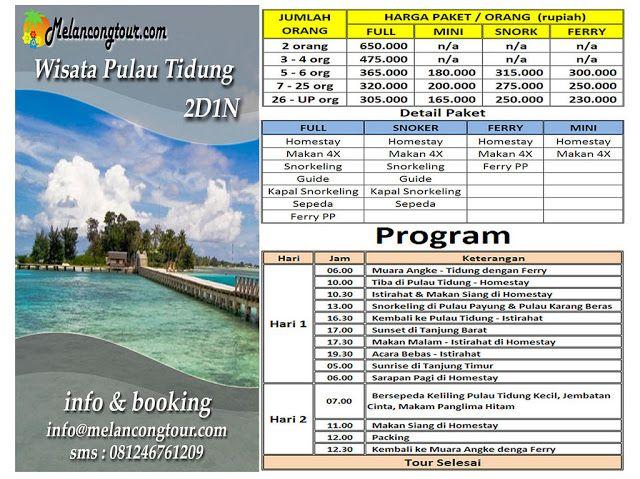 WISATA PAKET PULAU TIDUNG - Tempat Wisata Pulau