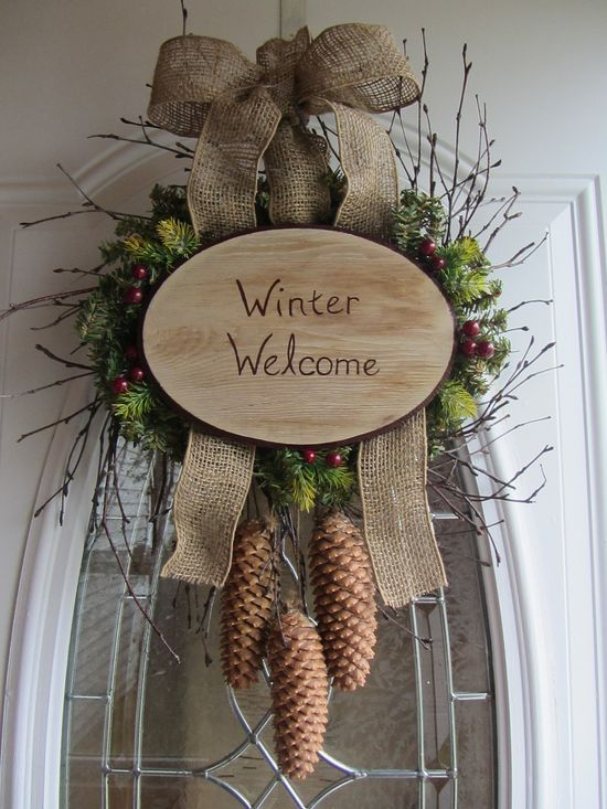 wreaths for front door | http://my-christmas-decor-styles.blogspot.com