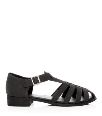 d678e932693b Black Caged Sandals New Look £19.99