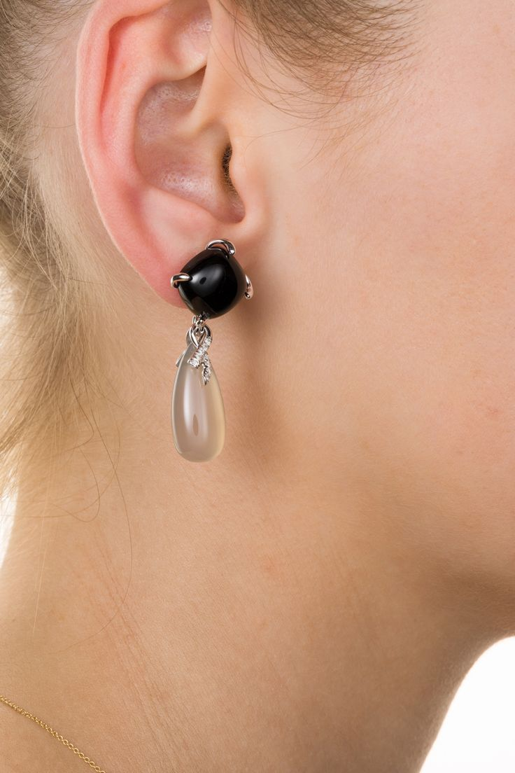 Chalcedony, Onyx and white diamonds - a magical combination and wearable with any outfit. Available from www.1stdibs.com