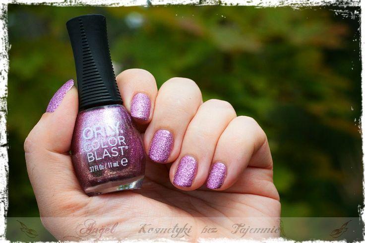 ORLY Color Blast, Pink 3D Glitter - najlepszy róż jaki znam