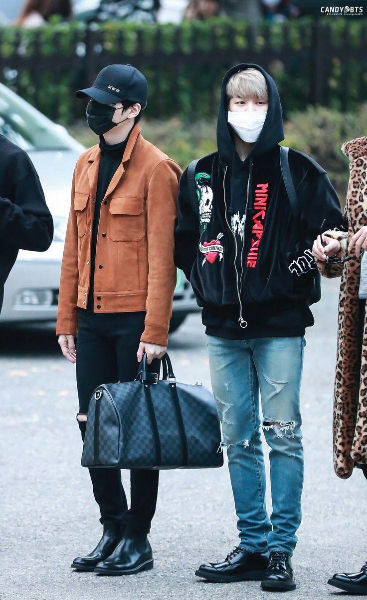 Suga and Jimin ❤ BTS Arrival at Music Bank #BTS #방탄소년단