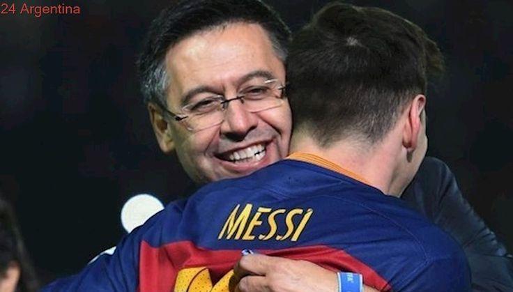 El presidente de Barcelona ratificó que Lionel Messi se quedará