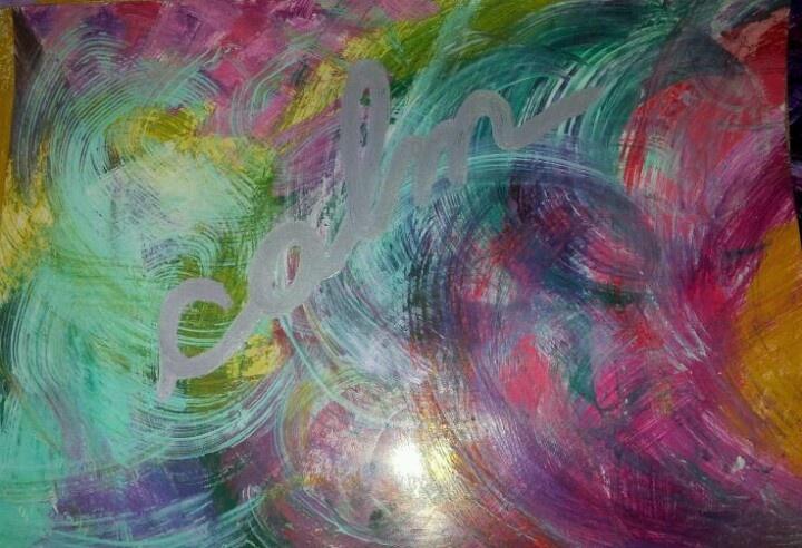 """""""Calm""""-Acrylic painting Ozana from houseatheart.blogspot.ro"""