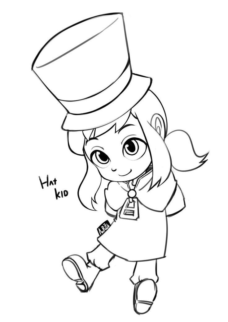 Artstation A Hat In Time Fanart Hat Kid An Rock Sam A Hat In Time Fan Art Drawings