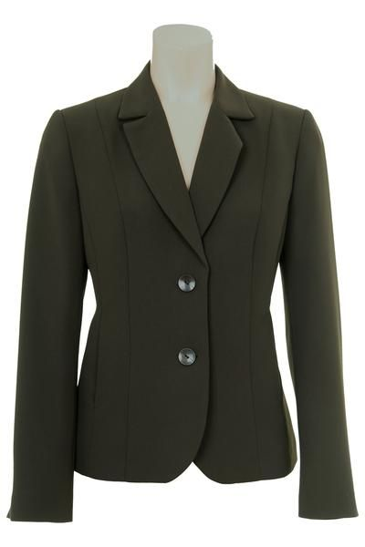 Busy Clothing Womens Olive Green Suit Jacket