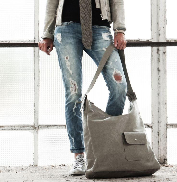 Hebben, hebben, hebben... Basic tas XL, klei-grijs, Zusss