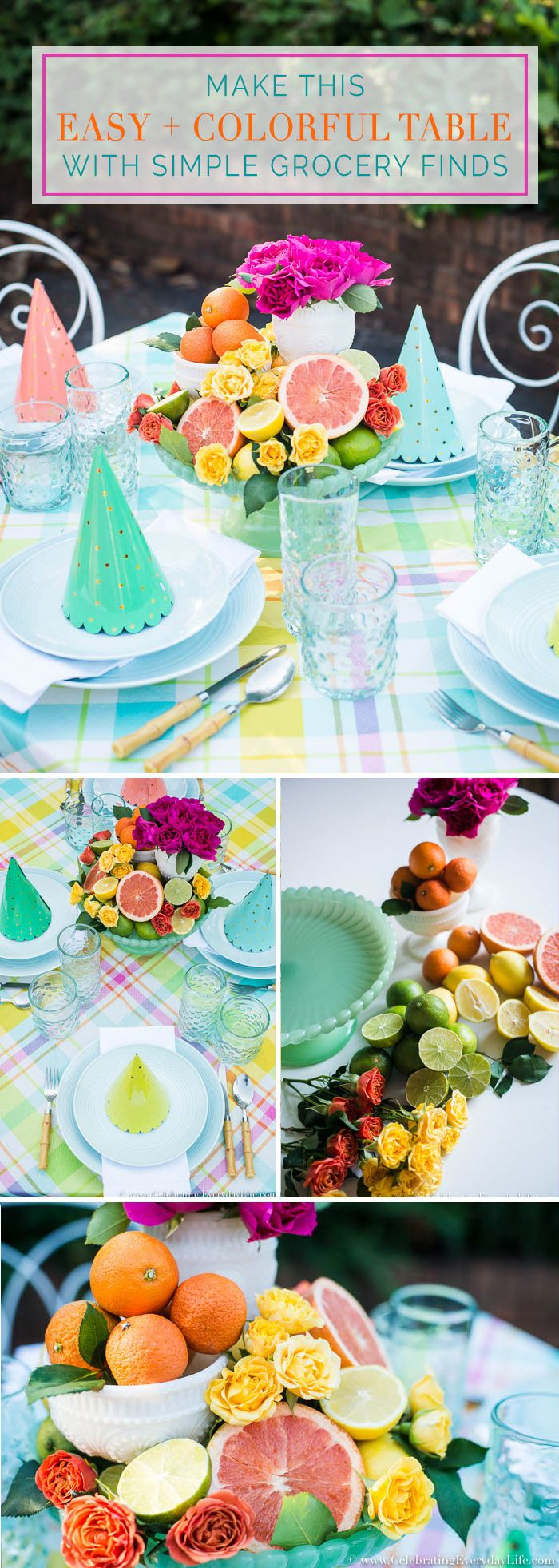 How to Make an Easy + Colorful Table with Simple G…