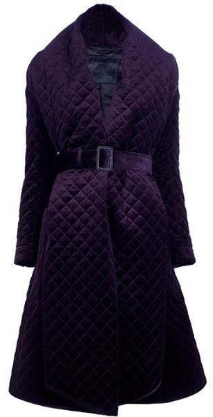 Belted Quilted Coat Burberry prorsum