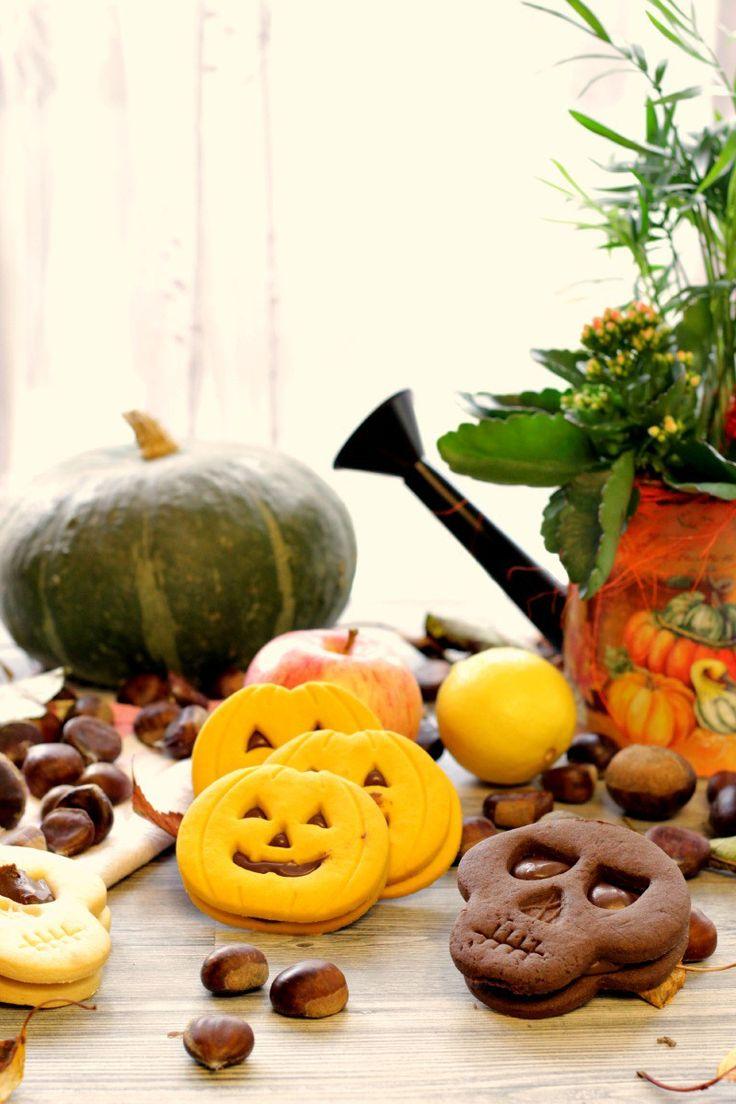Frolla alla zucca , al cacao per biscotti di Halloween