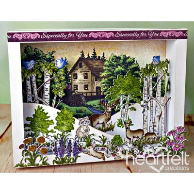 Heartfelt Creations - Woodsy Wonderland Shadow Box Scene Project