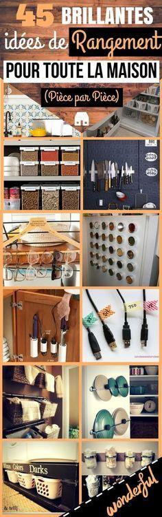 Voici des conseils rapides et bons marchés pour organiser et ranger toute votre maison en un rien de temps. Certaines de ces idées ne fonctionneront pas pour tout le monde, mais je suis quasiment sûr que vous allez trouver des idées de rangement qui vont vous plaire. En général, plus une maison est désorganisée, plus il est difficile de rassembler l'énergie pour la mettre en forme. Une solution : divisez...#rangement #organisation #déco #interieur #maison #idéesdéco #décoration