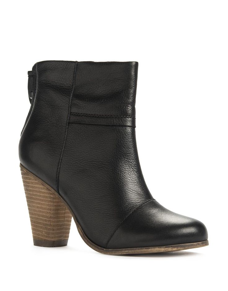 Leather Panel Cuban Boots