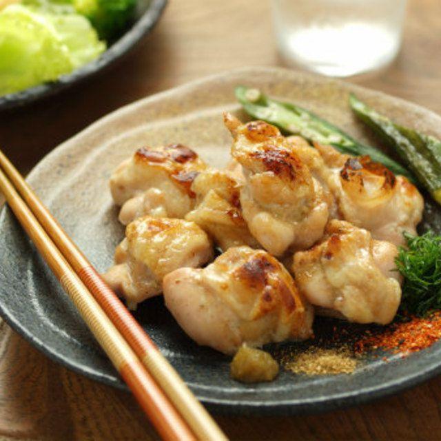 鶏肩肉の塩焼き 、 オーブントースターで簡単に