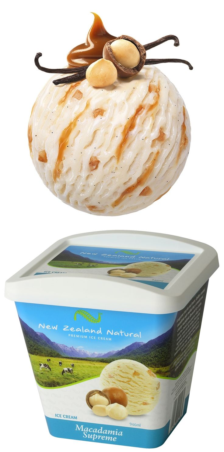 Macadamia Surpreme - 946ml & 6L #macadamia  #icecream #newzealandicecream #newzealand