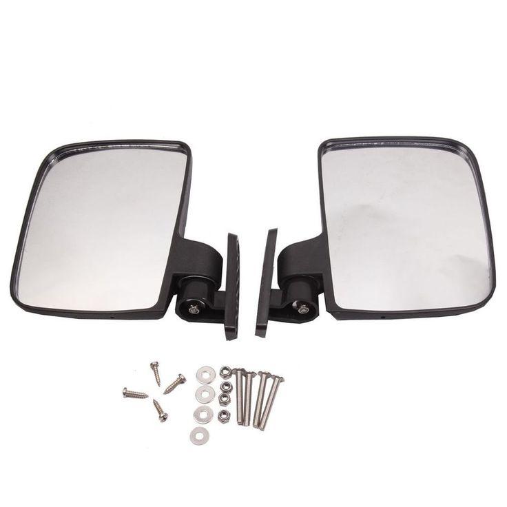 Golf Cart Mirrors Side Rear View Fits Club Electric Car Yamaha Accessories EZGO #BETOOLL #golf #cart #mirrors