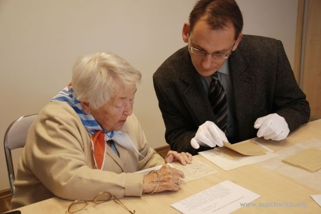 In November Zofia Banaszczyk, former prisoner of the German Nazi concentration camps of Auschwitz, Ravensbrück and Helmbrechts, donated a set of camp letters to the Auschwitz Memorial Site.