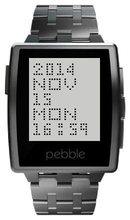 bittmm - watchface app for Pebbel silver steel. www.ttmm.eu