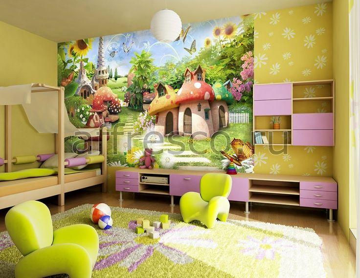 Детские комнаты   Фрески в интерьерах   Фрески и картины   Фабрика Affresco