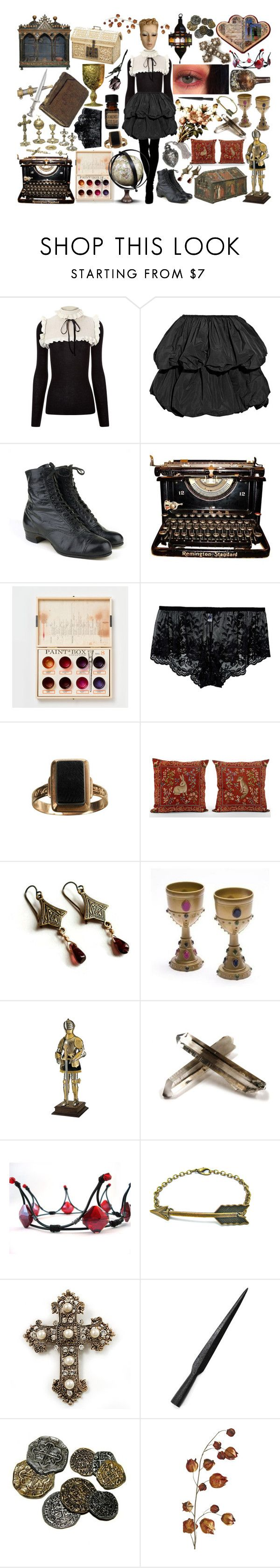 """""""Medieval city walk"""" by hecate-de-lagina on Polyvore featuring Philosophy di Lorenzo Serafini, Carven, Remington, Cosabella, Lab, Buccellati, Max Factor, Avalaya, ELSE y Pier 1 Imports"""