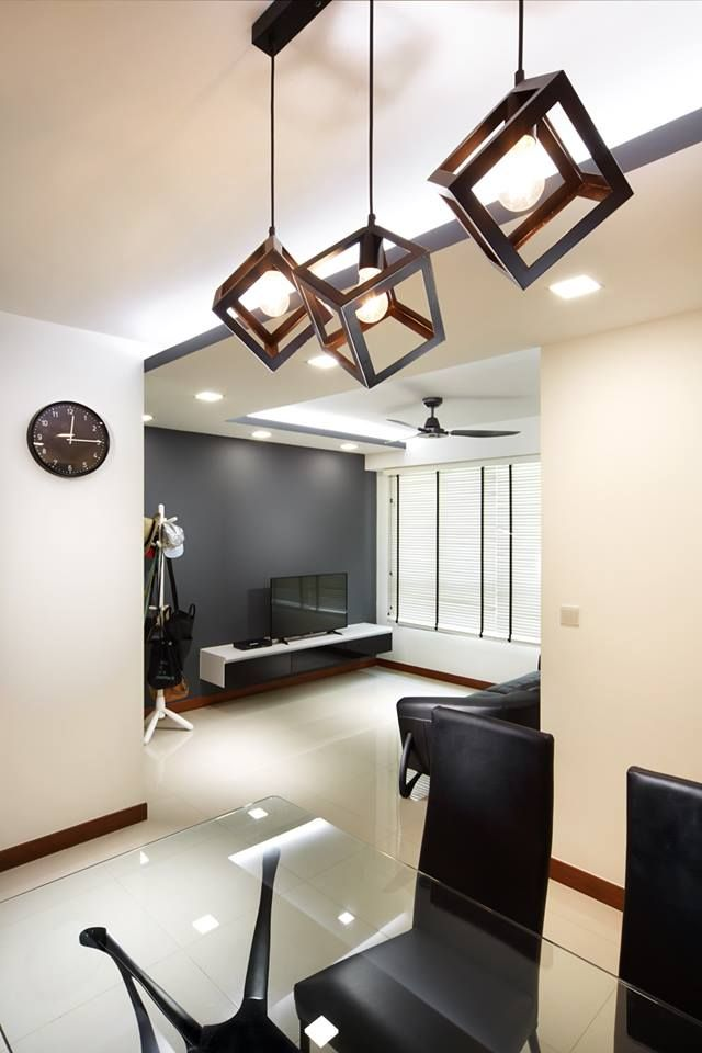 Blk 889B Woodland Minimalism Interior Design HDB Living Dining Room