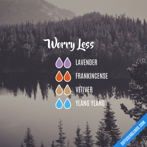 """Worry Less - Essential Oil Diffuser Blend FREE 100ml bottle of """"Tease and Please"""" Massage oil with every order over £50 Limited Stock.  www.essentialoilproducts.co.uk"""
