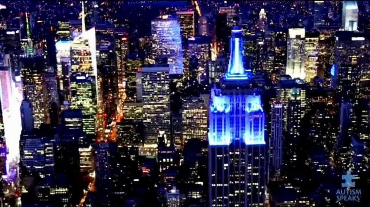 """During the month of April, buildings across the world will be illuminated in blue light. In observance of World Autism Month, Autism Speaks encourages people to join the """"Light It Up Blue"""" campaign to show acceptance towards everyone across the Autism spectrum."""