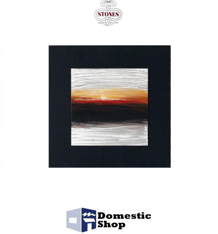 QUADRO STONES 80 x 80 cm DIPINTO AD OLIO SU METALLO SU TELAIO CON COVER IN TELA NERA COD.QU077B http://www.domesticshop.it/index/product.php?id_product=1536