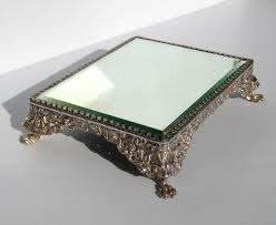 Early 20th Century Ornate Silver Plated Mirror Plateau