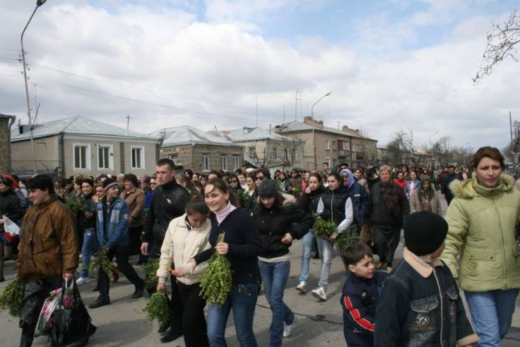 Palm Sunday procession in Tskhinvali, April 2009. ◆South Ossetia - Wikipedia http://en.wikipedia.org/wiki/South_Ossetia #South_Ossetia