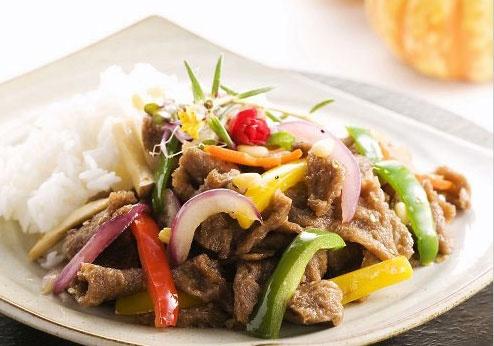 Bulgogi with Rice (bulgogi-deopbap, 불고기덮밥)