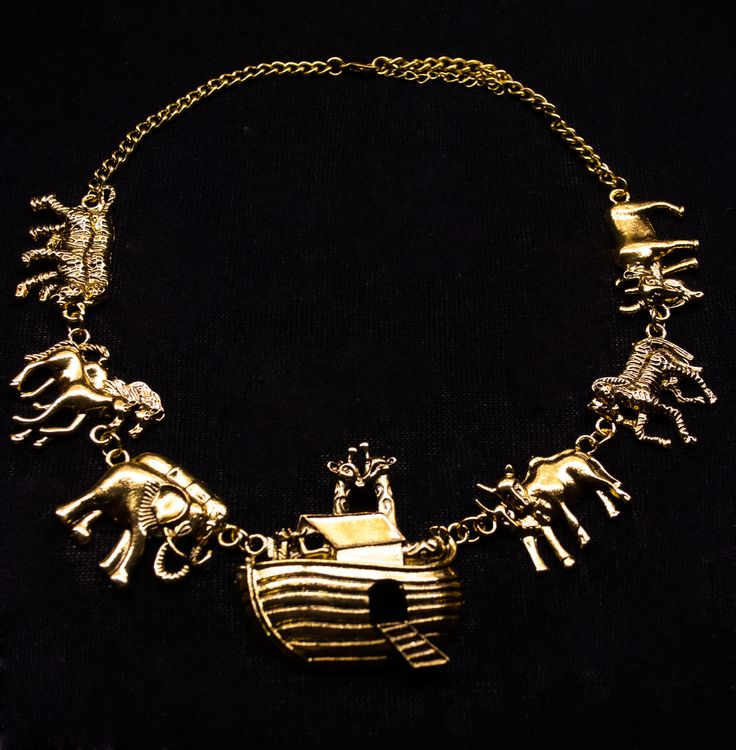 A chic necklace depicting Noah's ark!