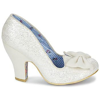 Court-shoes Irregular Choice Nick of Time White / Glitter