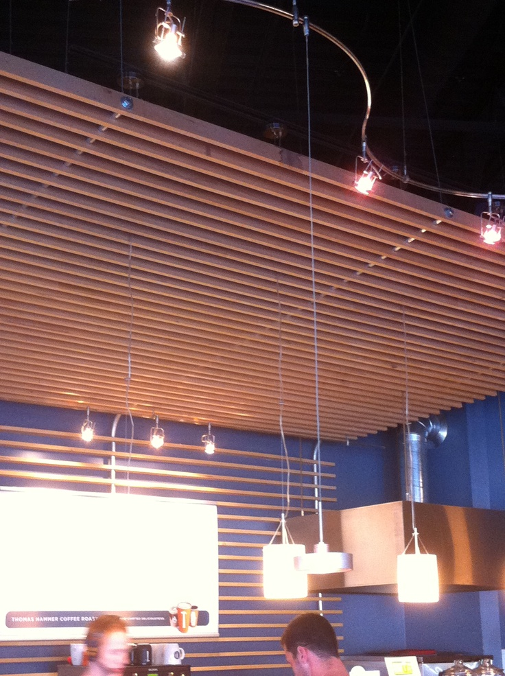 24 best ceiling clouds images on pinterest ceilings clouds and basements - Wood slat ceiling system ...