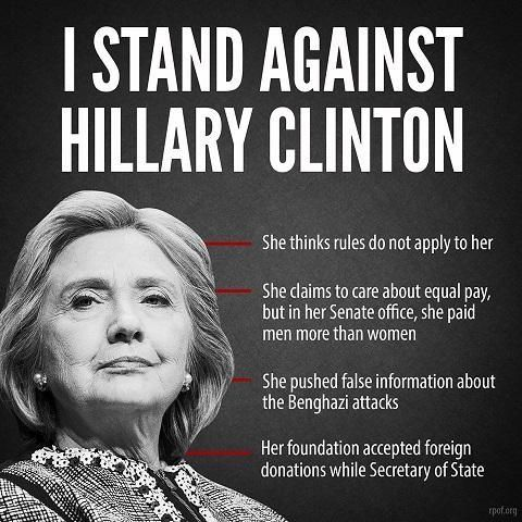 #hilaryforprison that's what I stand for. #conservative truths man -- I will not stand with Hilary.